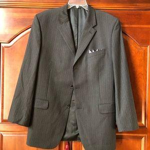 Jones New York Pinstriped Suit. 44R.